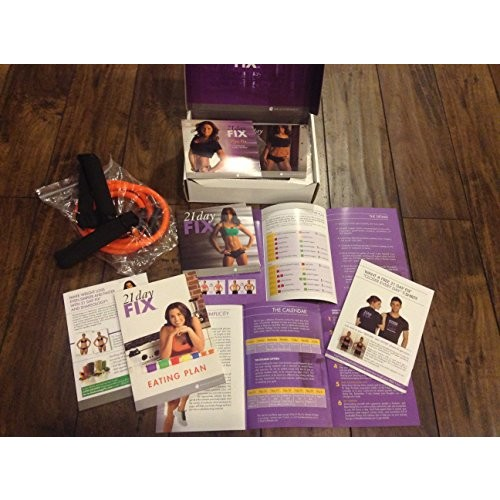21 Day Fix Workout DVD Program with Resistant Band Autumn Calabrese