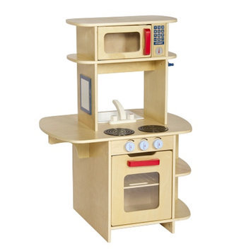 Guidecraft Cafe Play Kitchen, Natural, 1 ea