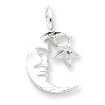 Sears Expired Sterling Silver Moon w/Star Charm