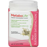 MetaboLife Slender Satisfaction Vanilla Bean Weight Management Shake Mix