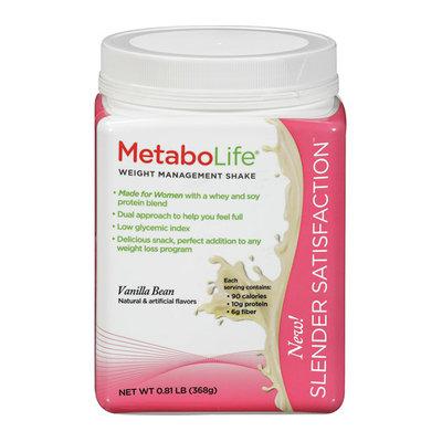 MetaboLife Slender Satisfaction Vanilla Bean Weight Management Shake Mix