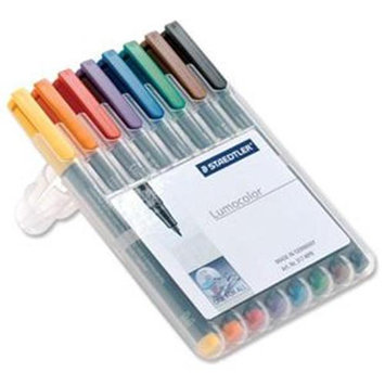 Staedtler Lumocolour OHP Pens, Assorted Colours, Non-Permanent, 0.6mm