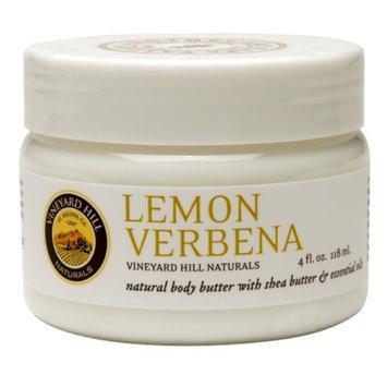 Vineyard Hill Naturals Natural Body Butter, Lemon Verbena, 4 fl oz