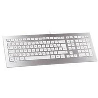 Zf Electronics Corporation Cherry STRAIT Keyboard - Wired - Silver, White
