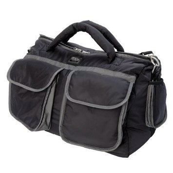 7a.m. Enfant 7 A.M. Enfant Voyage Diaper Bag, Black/Gray, Large