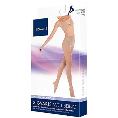 Sigvaris 120P Sheer Fashion 15-20 mmHg Pantyhose Size: A, Color: Taupe 29