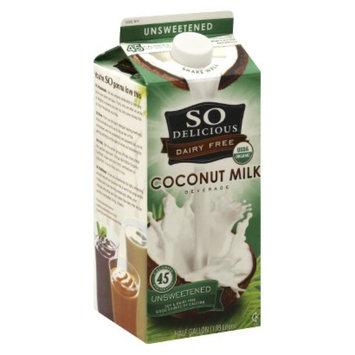 Gale Hayman So Delicious Unsweetened Coconut Milk .5 gal