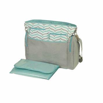 iPack Baby Herringbone Diaper Bag, Grey