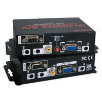 QVS VAS-E Ultimate A/V plus Serial/IR Control Single CAT5e/6 300M Extender