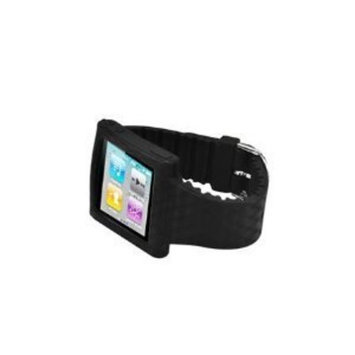 Oker Ipod Nano 6 6g 6th Generation Silicone Silicon Skin Black Watch Band