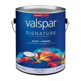 Valspar Signature Signature Interior Eggshell Tintable White Latex-Base Paint and Primer in One (Actual Net Contents: 116-fl oz) 007.0213471.007