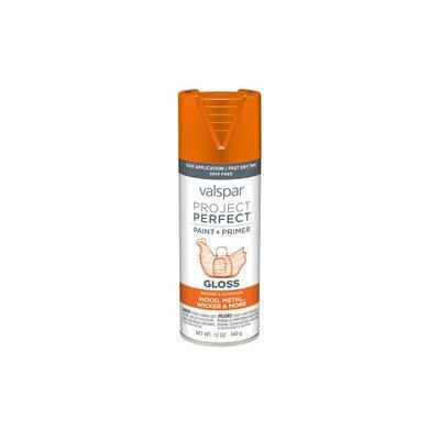 Valspar Project Perfect Island Orange Indoor/Outdoor Spray Paint 407.0084228.076