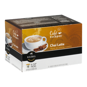 Cafe Escapes Chai Latte K-Cup - 12 CT