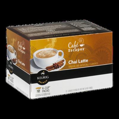 Cafe Escapes Chai Latte K-Cup - 12 CT