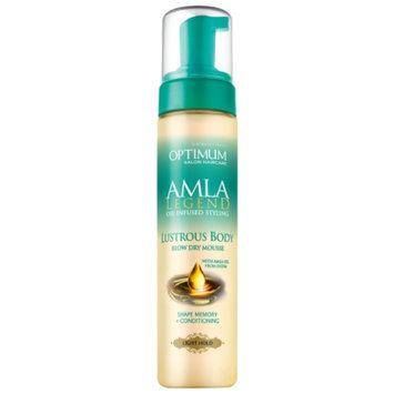 Optimum Salon Haircare Amla Legend Lustrous Body Blow Dry Mousse, Light Hold, 8 fl oz