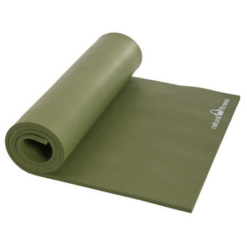 Natural Fitness Powerhouse Mat - 24 in x 72 in x 3/8 in, Olive, 1 ea