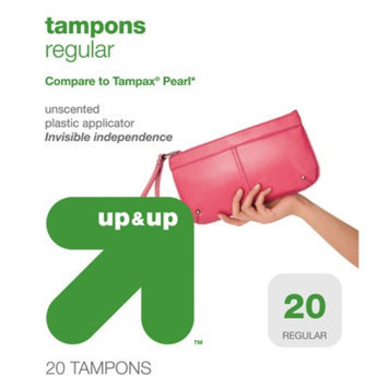 up & up Regular Plastic Applicator Unscented Tampons 20-pk.