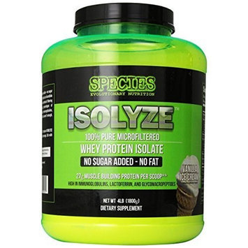 Species Nutrition Isolyze, Vanilla Ice Cream, 4-pound Tub