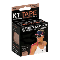 KT Tape Kinesiology Therapeutic Tape Precut Strips Beige - 14 CT