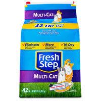 Clorox Fresh Step Premium Scoopable Clumping Cat Litter Multiple Cat Strength