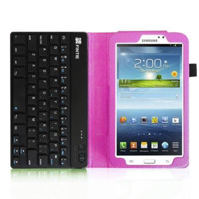 Fintie Folio Key Wireless Bluetooth Keyboard Case Cover for Samsung Galaxy Tab 3 7.0 inch Tablet, Violet