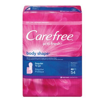 Carefree Body Shape Pantiliners, Scented, 54 ea