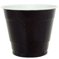 Hanna K Signature Hanna K. Signature 81080 9 Oz. Black Plastic Cup - 600 Per Case