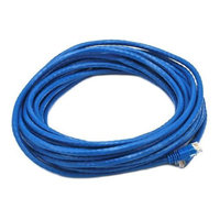 Monoprice 30FT 24AWG Cat5e 350MHz UTP Bare Copper Ethernet Network Cable - Blue