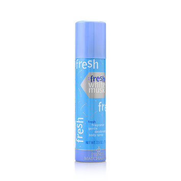 Prince Matchabelli Fresh White Musk Women's 2.5-ounce Gentle Deodorant Body Spray
