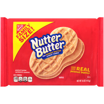 Nabisco Nutter Butter Sandwich Cookies - Real Peanut Butter