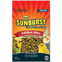 Higgins Sunburst Millet Bits Gourmet Treats for Small Birds, 1 oz.