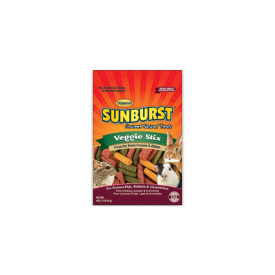 Higgins Sunburst Veggie Stix Gourmet Treats for Guinea Pigs, Rabbits & Chinchillas, 4 oz.