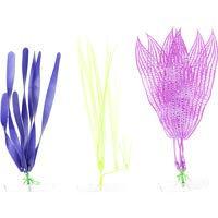 GloFish Plastic Aquarium Plants: 3 Pack - (2 Medium-Large, 1 Large)