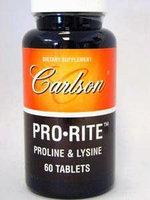 Carlson Labs - Pro-Rite Proline & Lysine - 60 Tablets
