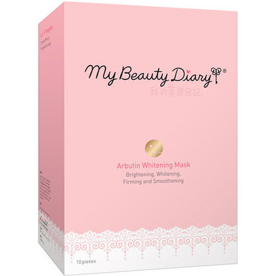 My Beauty Diary Arbutin Whitening Facial Mask, 10 count