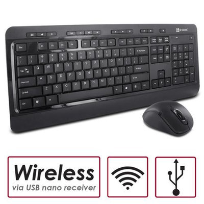G-Cube Design 2.4GHz Multimedia Wireless Slim Keyboard and Mouse Combo