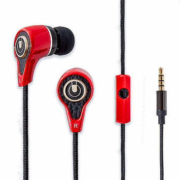 Syba Multimedia, Inc. Oblanc Stereo Heavy Bass In-ear Headphones Headset with Mic Red
