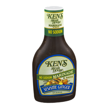 Ken's Steak House No Sodium Marinade & Sauce Sesame Ginger
