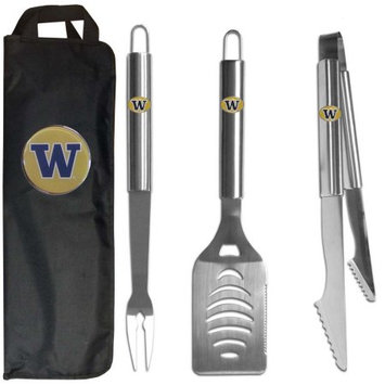 Siskiyou Buckle NCAA 3 Piece BBQ Tool Set with Bag - Washington Huskies