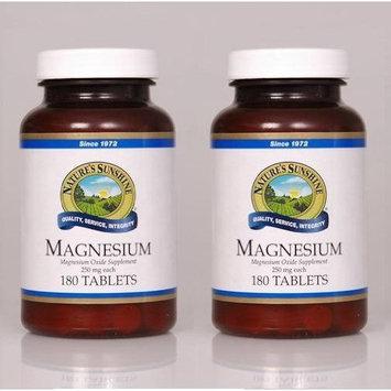 Nature's Sunshine Naturessunshine Magnesium Nervous System Support 250 mg 180 Tablets (Pack of 2)