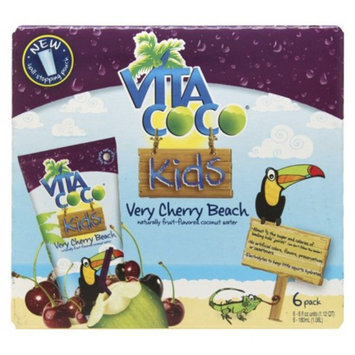 Vita Coco Kids Very Cherry Beach Fruit-Flavored Coconut Water 6 oz 6