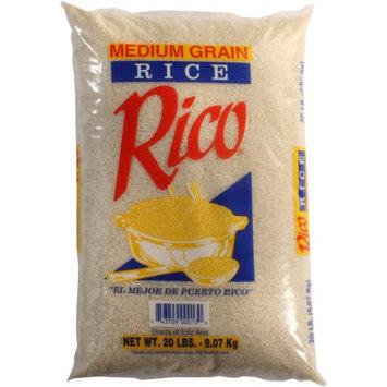 Rico Medium Grain Rice, 20 lbs