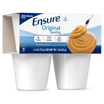 Active Forever Ensure Pudding (Case of 48) : Butterscotch Delight