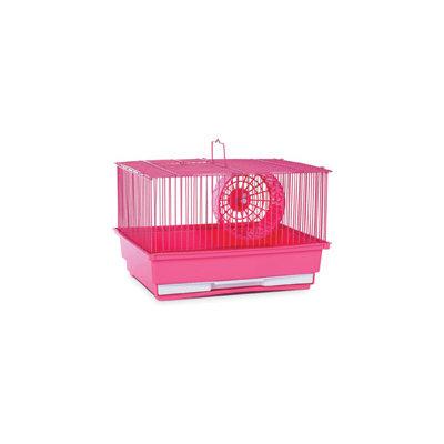 Prevue Hendryx Single Storey Small Animal Hamster Habitat Cage - Pink