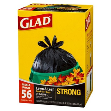 Glad Lawn & Leaf Strong Quick-Tie Trash Bags 39 gal 56 ct