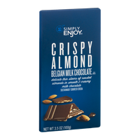 Simply Enjoy Crispy Almond Belgian Milk Chocolate
