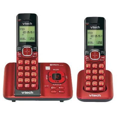 VTech Vtech DECT 6.0 Cordless Telephone System (CS6529-26) with 2 Handsets -
