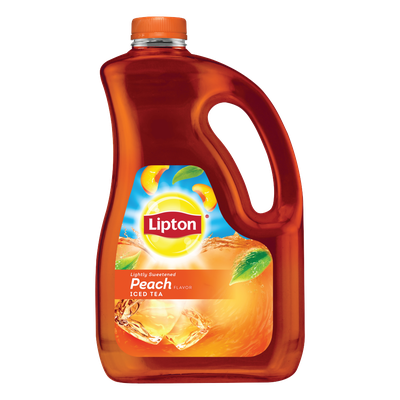 Lipton Black Iced Tea Lightly Sweetened Peach