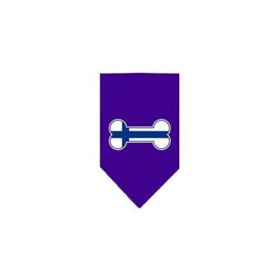 Ahi Bone Flag Finland Screen Print Bandana Purple Large