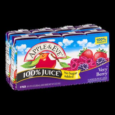 Apple & Eve 100% Juice Very Berry Juice Boxes